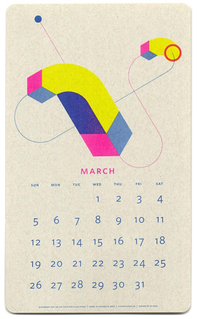 Calendario isometrico 2017 - © Paper Pusher