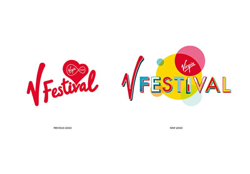 Virgin V Festival, il rebrand dello studio grafico londinese Form
