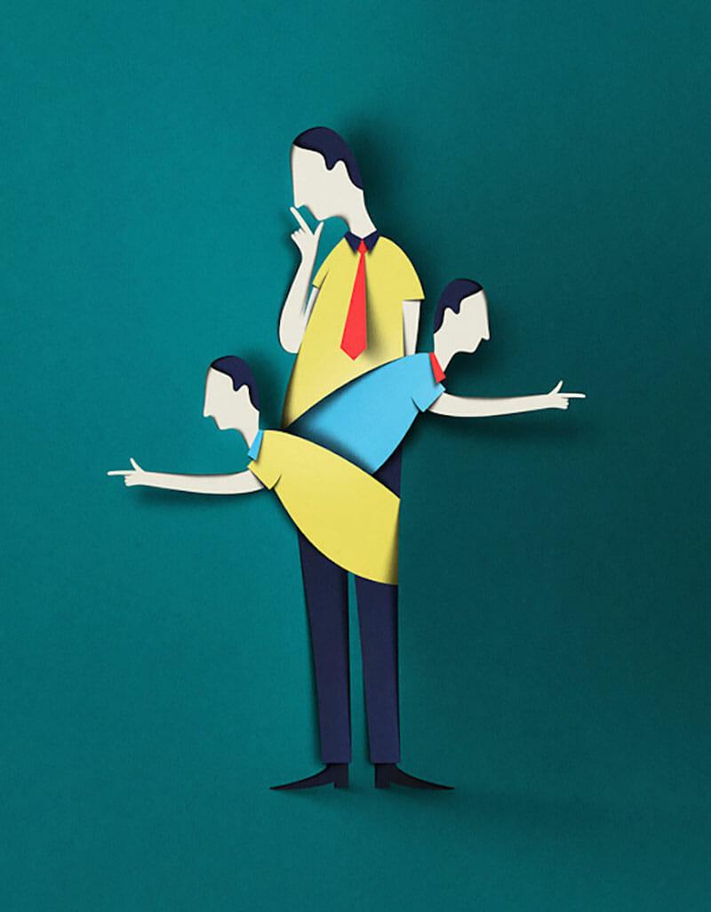 Digital Papercut Illustration - Eiko Ojala
