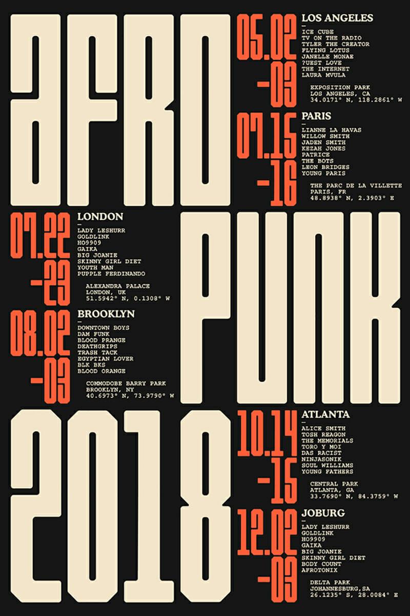 Yuma Naito. Il rebranding per l'Afropunk Festival