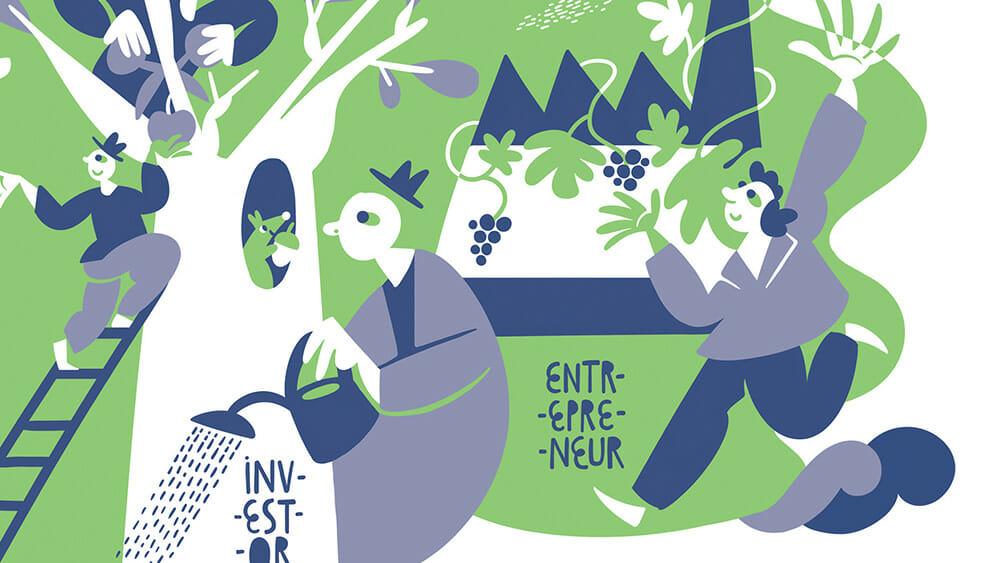 Le cartoline con lo storytelling illustrato dello studio Housatonic