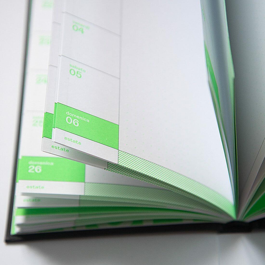 L'agenda 2020 di Hoppípolla. Stampa in offset e colore pantone