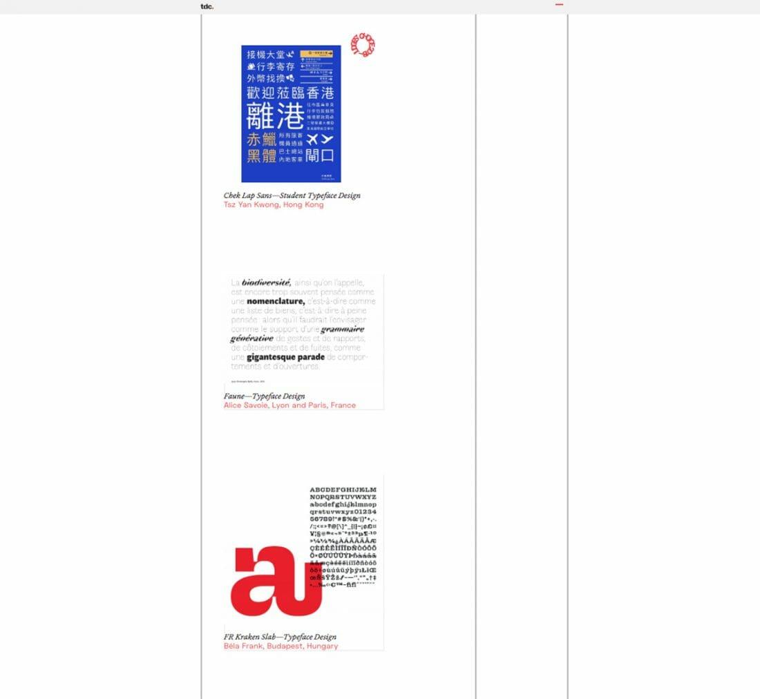 l'archivio online del Type Directors Club