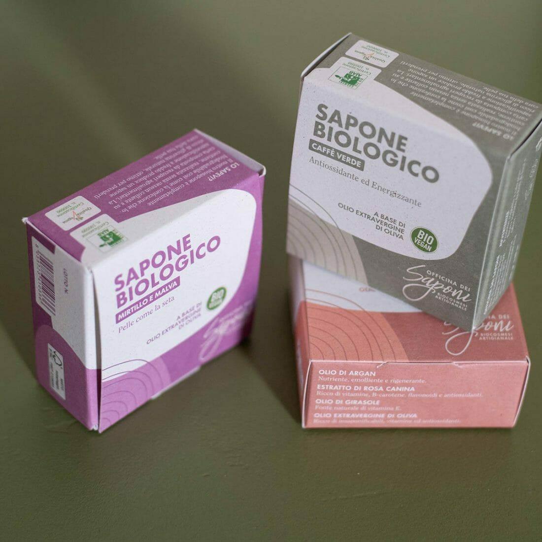 Il packaging sostenibile della linea di Officina dei Saponi